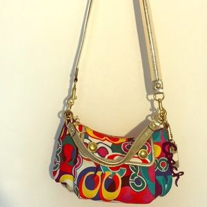 Auth Coach Colorful Graphic Logo Bag